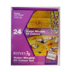 Sada olej. barev H2O Reeves 24 × 10 ml