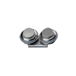 Kovová  miska nerezová dvojitá Ø 55 mm | 2121
