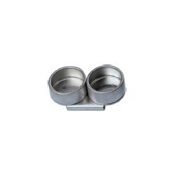 Kovová miska dvojitá Ø 40 mm | 2150