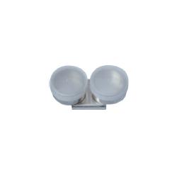 Kovová miska dvojitá s plastovým uzávěrem Ø 40 mm | 2152