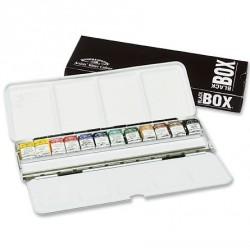 Mistrovské akvarel. barvy W&N 12 ks Black box sleva z 993,-