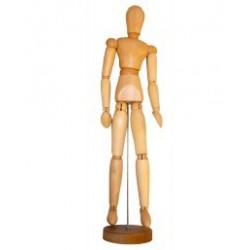 Dřevěný manekýn 11 cm