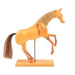 Dřevěný kůň světlý 20 cm