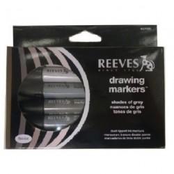 Sada Reeves markers 6 ks šedá škála