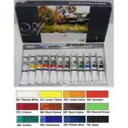 Maries 12x12ml akrylových barev
