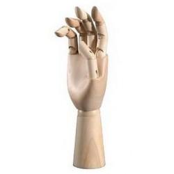 Dřevěná ruka mužská 30 cm