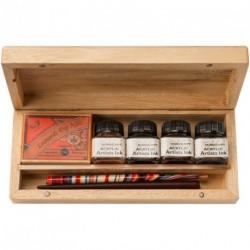 Kaligrafická sada Manuscript v dřevěném boxu N4701