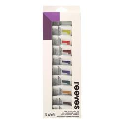 Sada olej. barev ředitelných vodou Reeves 10 × 22 ml