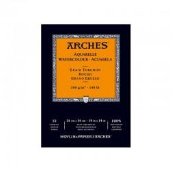 Arches akvarel blok grain torchon rough hrubě zrnitý 26x36 cm