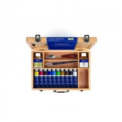 Sada olejových barev LB Fine 10x40 ml, příslušenství v dřevěném kufříku