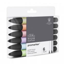 Sada Promarker 6 ks šedé pastel